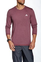 Adidas Aero Knit Long Sleeve Tee Red