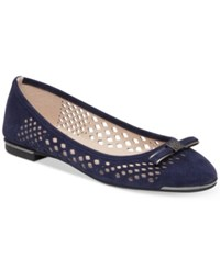 Vince Camuto Celindan Perforated Ballet Flats Women's Shoes Navy Haze