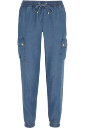 Michael Michael Kors Denim Track Pants Mid Denim