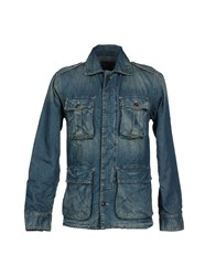 Single Dress Single Denim Denim Outerwear Men Blue