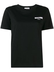 Moschino Logo Embroidered Performance T Shirt Black