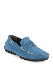 Bacco Bucci Leather Penny Loafers Jeans