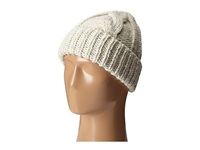 San Diego Hat Company Knh3374 Cable Knit Beanie With Metallic Yarn Ivory Beanies White