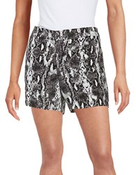 Calvin Klein Printed Linen Shorts Black White