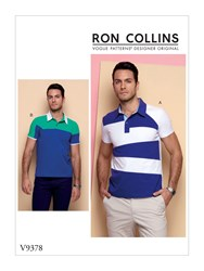 Vogue 'S Sporty Polo Shirts Sewing Pattern 9378