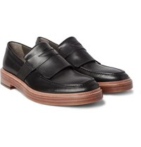 Armando Cabral Leather Penny Loafers Black
