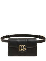 Dolce And Gabbana Dg Millennials Leather Belt Bag Black