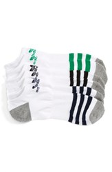 Adidas Men's Original Roller 3 Pack No Show Socks White Multi