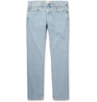 Simon Miller M001 Slim Fit Selvedge Denim Jeans Light Denim