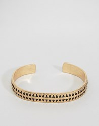 Icon Brand Premium Houndtooth Cuff Bracelet In Gold Gold