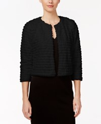 Calvin Klein Faux Fur Shrug Black