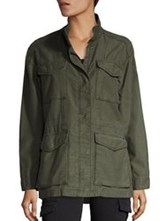 Vince Solid Military Jacket Army