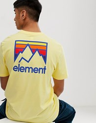 Element Joint T Shirt In Yellow