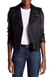 Levi's Genuine Leather Quilted Motorcycle Jacket Black