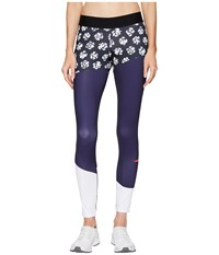 Adidas By Stella Mccartney Run Climalite Long Tights Printed S99235 Black Noble Ink White Women's Workout