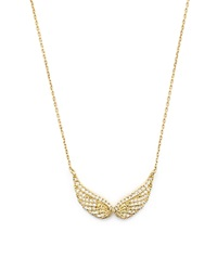 Bloomingdale's Diamond Wings Pendant Necklace In 14K Yellow Gold .20 Ct. T.W. White Gold