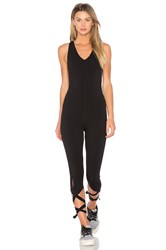 Free People Shakeout Bodysuit Black