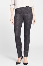 Women's Nydj 'Evie' Metallic Snakeskin Print Leggings