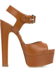 Brian Atwood 'Karin' Sandals Brown