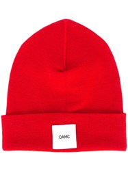 Oamc Ribbed Beanie Wool Red