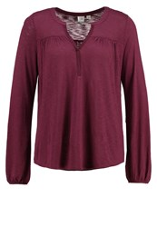 Gap Long Sleeved Top Tuscan Red