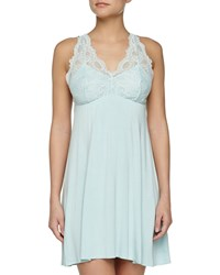 Fleurt Belle Epoque Galloon Lace Chemise Powder Blue Women's