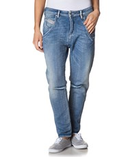 Diesel Relaxed Fit Jeans Hellblau Blue