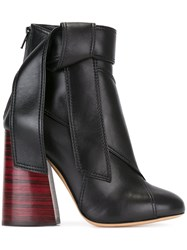Ellery Side Tie Ankle Boots Black