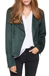 Sanctuary Women's Do It Right Faux Suede Moto Jacket Meadow Green