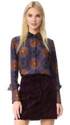 Nina Ricci Long Sleeve Blouse Purple