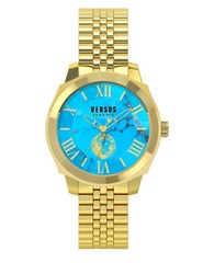 Versus By Versace Chelsea Goldtone Stainless Steel Link Bracelet Watch Sov060015