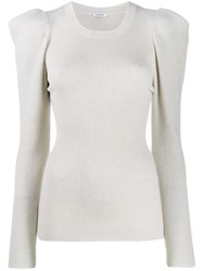 P.A.R.O.S.H. Ribbed Sweatshirt Neutrals