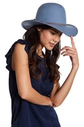August Hat Pale And Pretty Mid Brim Wool Blue