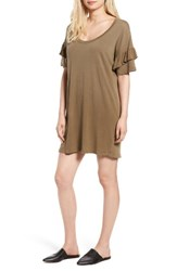 Current Elliott Women's The Ruffle Roadie T Shirt Dress