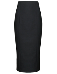 Olympia Le Tan Black Velvet Heart Pencil Skirt