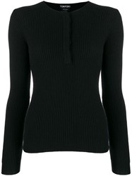 Tom Ford Ribbed Knit Sweater Black