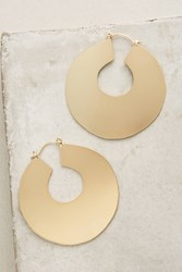 Anthropologie Mod Hoops Gold
