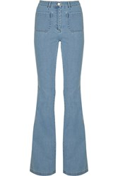Michael Kors High Rise Flared Jeans Blue