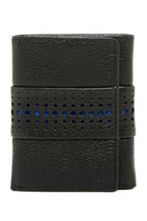 Original Penguin Driving Glove Leather Trifold Wallet Black