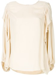 See By Chloe Loose Fit Blouse Nude And Neutrals
