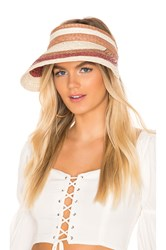 Hat Attack Summer Stripe Visor Brown