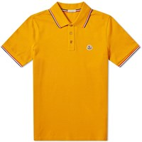 Moncler Classic Contrast Tipped Polo Yellow