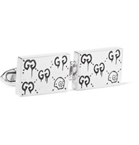 Guccighost Engraved Sterling Silver Cufflinks