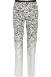 Band Of Outsiders Degrade Leopard Print Silk Twill Tapered Pants