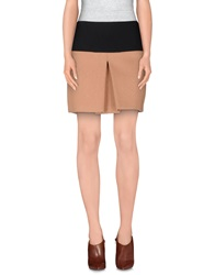 Patrizia Pepe Sera Knee Length Skirts Skin Color