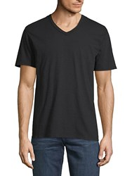 7 For All Mankind Short Sleeve Cotton Tee Black