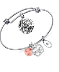 Unwritten New York City Charm Bracelet In Silver Plated Stainless Steel