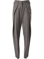 Maison Martin Margiela Origami Tweed Trousers Grey