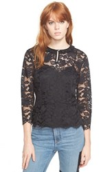 Women's Marc By Marc Jacobs 'Isabella' Lace Peplum Top