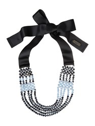 Max Mara Weekend Multi Beaded Necklace Blue